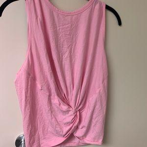 Lululemon pink tie front tank top sz 12 fun!